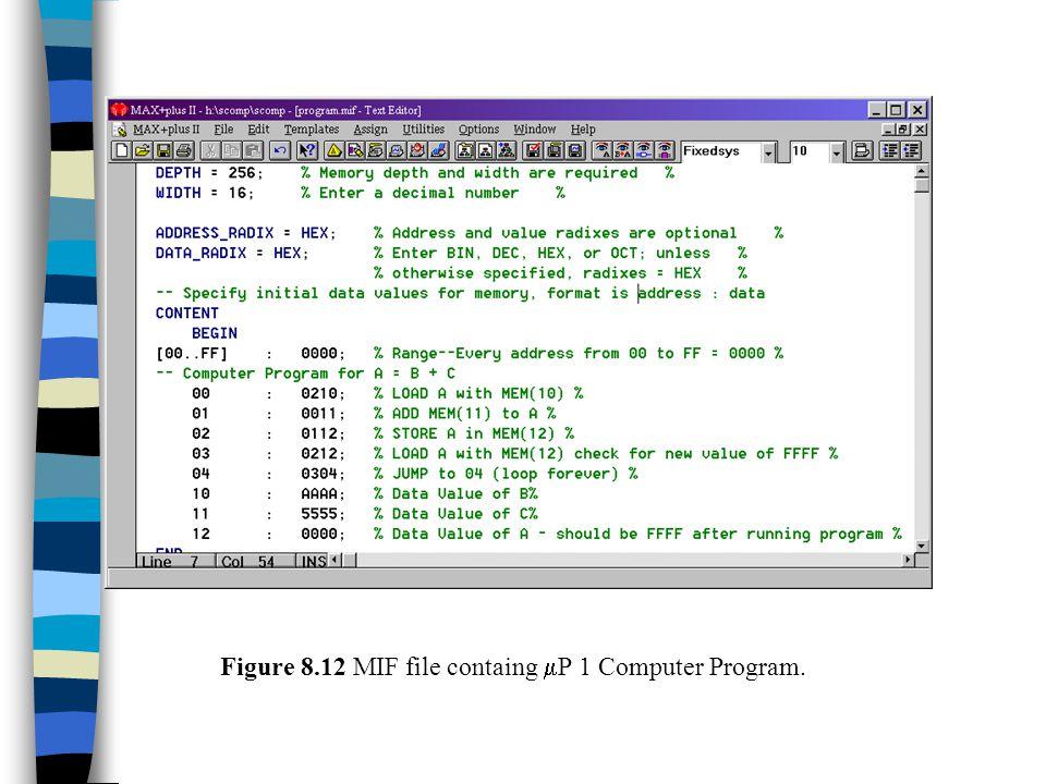 Figure 8.12 MIF file containg P 1 Computer Program.