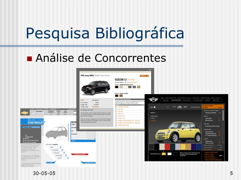 30-05-055 Pesquisa Bibliográfica Análise de Concorrentes