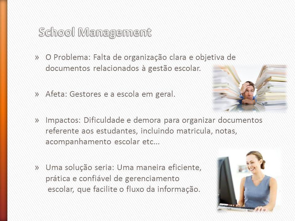 » O Problema: Falta de organização clara e objetiva de documentos relacionados à gestão escolar.