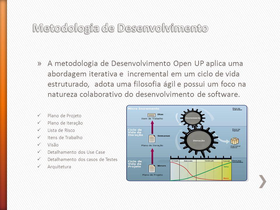 » A metodologia de Desenvolvimento Open UP aplica uma abordagem iterativa e incremental em um ciclo de vida estruturado, adota uma filosofia ágil e possui um foco na natureza colaborativo do desenvolvimento de software.