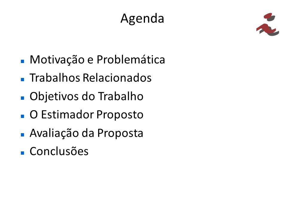 Agenda Motivação e Problemática Trabalhos Relacionados Objetivos do Trabalho O Estimador Proposto Avaliação da Proposta Conclusões