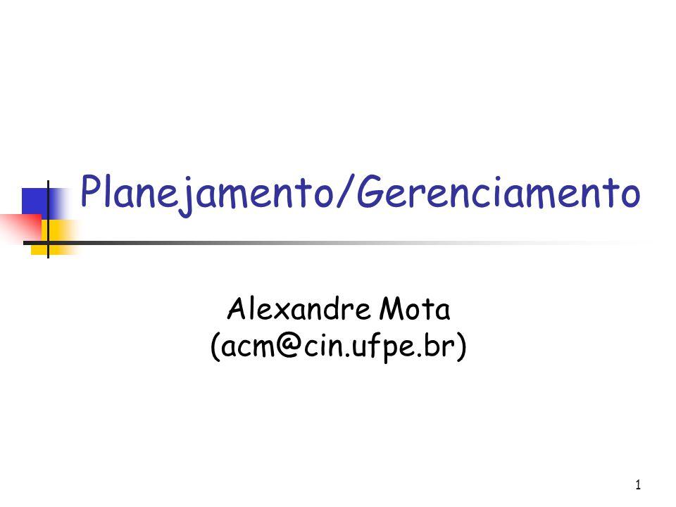 1 Planejamento/Gerenciamento Alexandre Mota (acm@cin.ufpe.br)