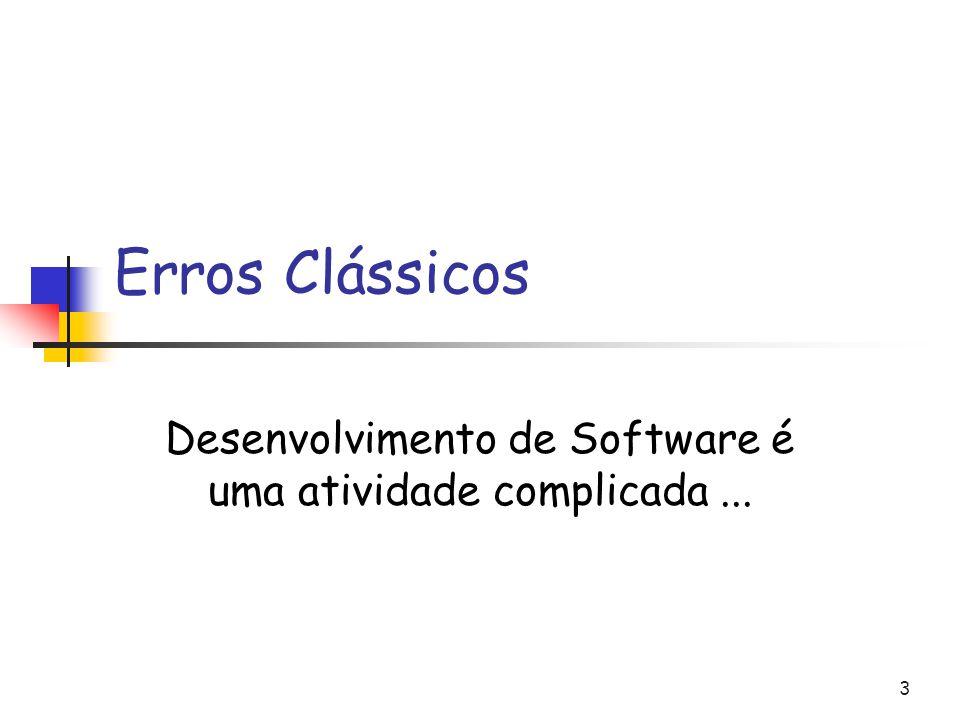 3 Erros Clássicos Desenvolvimento de Software é uma atividade complicada...