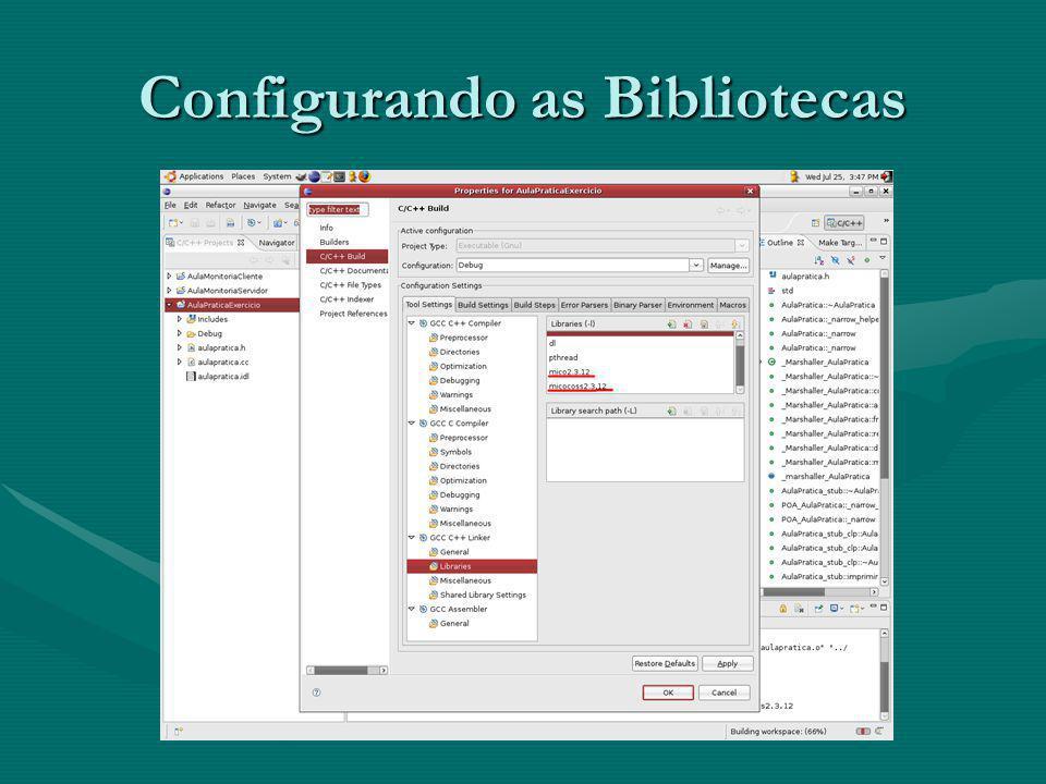 Configurando as Bibliotecas