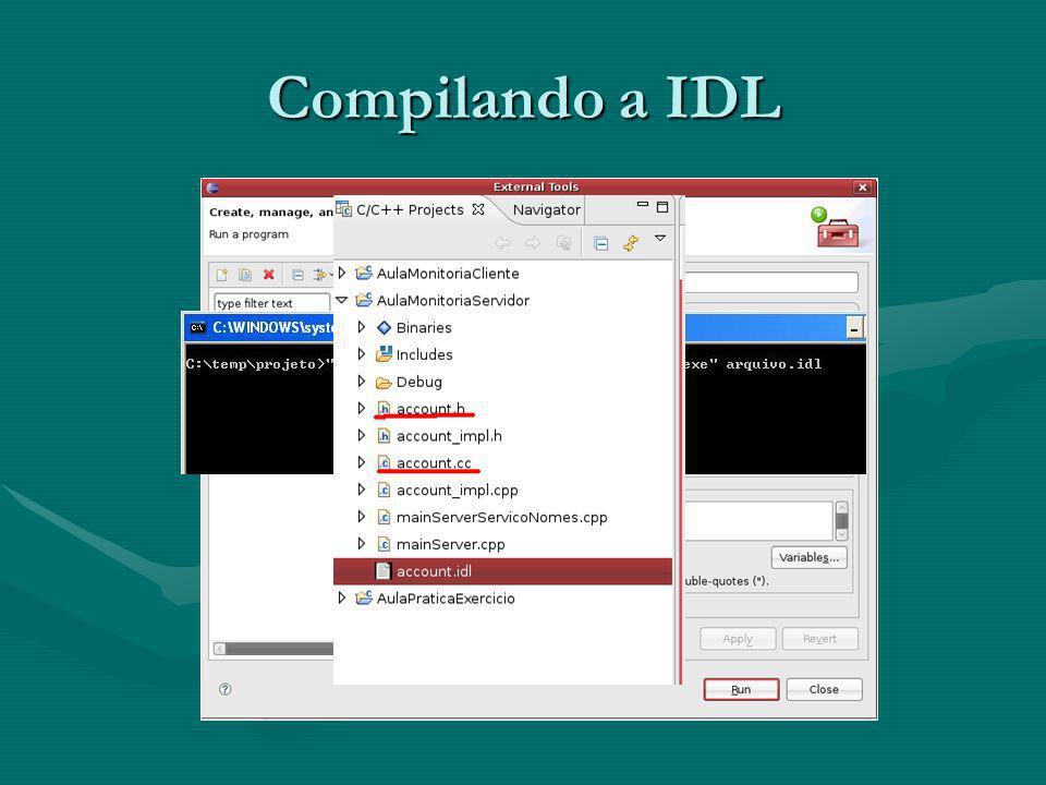 Compilando a IDL