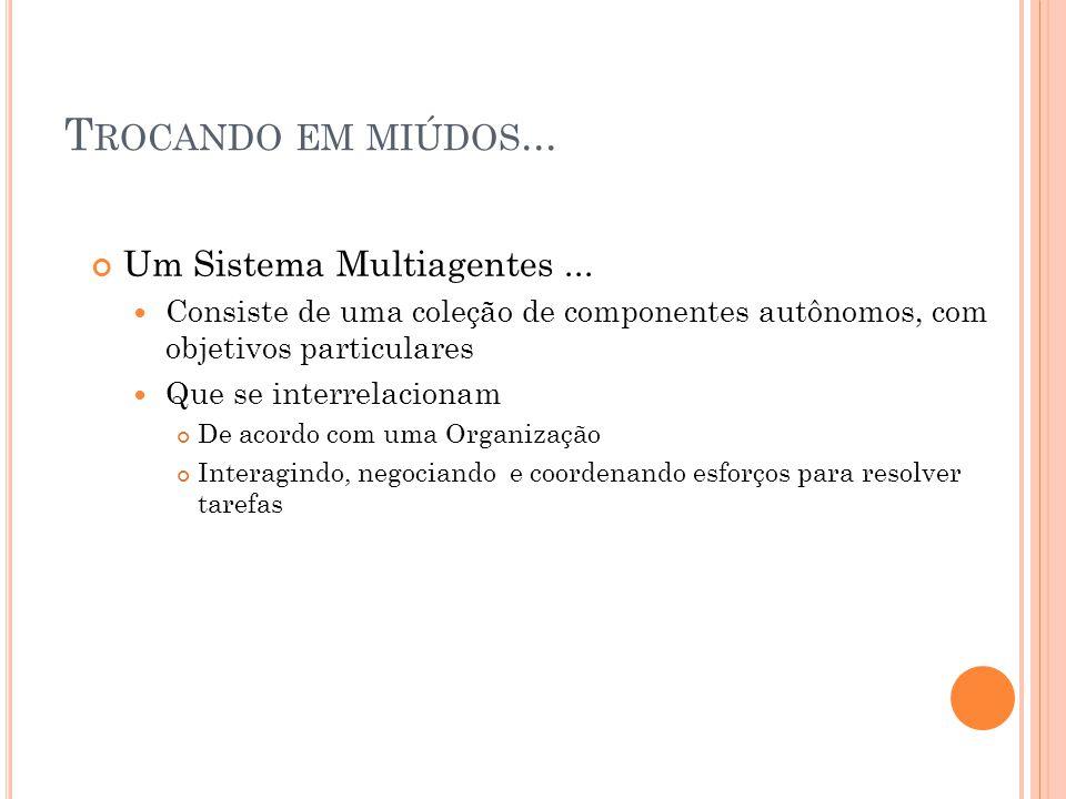 T ROCANDO EM MIÚDOS... Um Sistema Multiagentes...