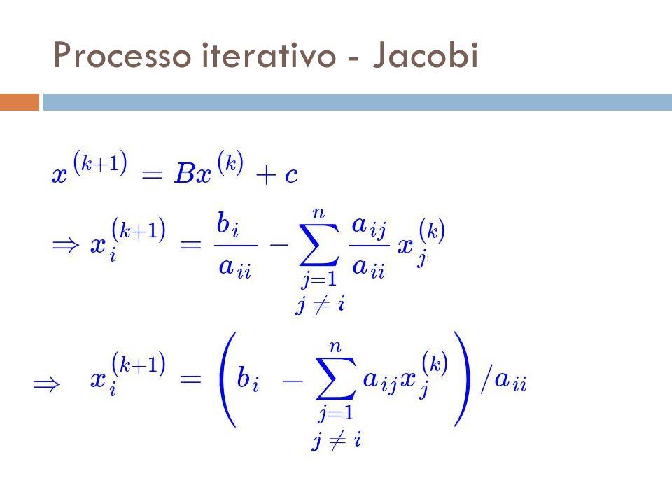 Processo iterativo - Jacobi