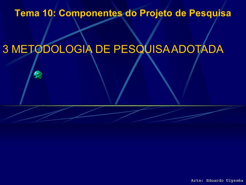 Arte: Eduardo Ulysséa Tema 10: Componentes do Projeto de Pesquisa 2.5 PRODUTOS E RESULTADOS ESPERADOS 2.5.1 Sob o Ponto de Vista Acadêmico 2.5.2 Sob o