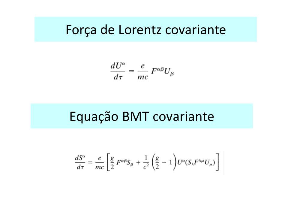 Equação BMT covariante Força de Lorentz covariante