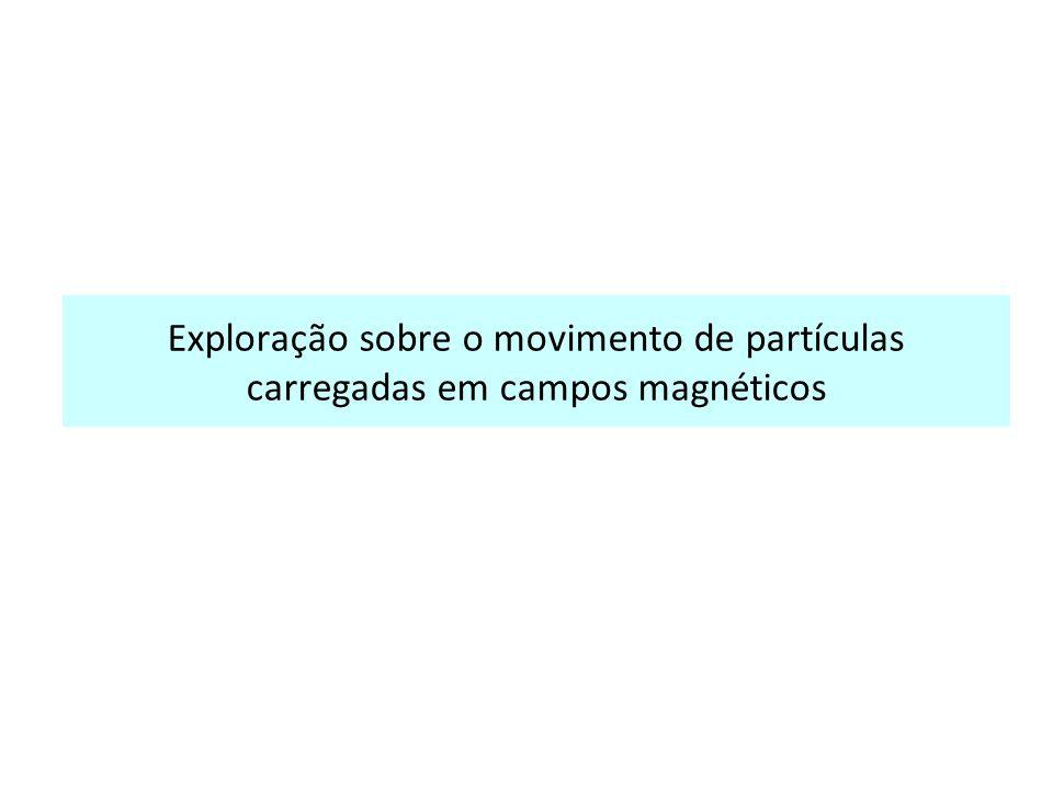 Exploração sobre o movimento de partículas carregadas em campos magnéticos