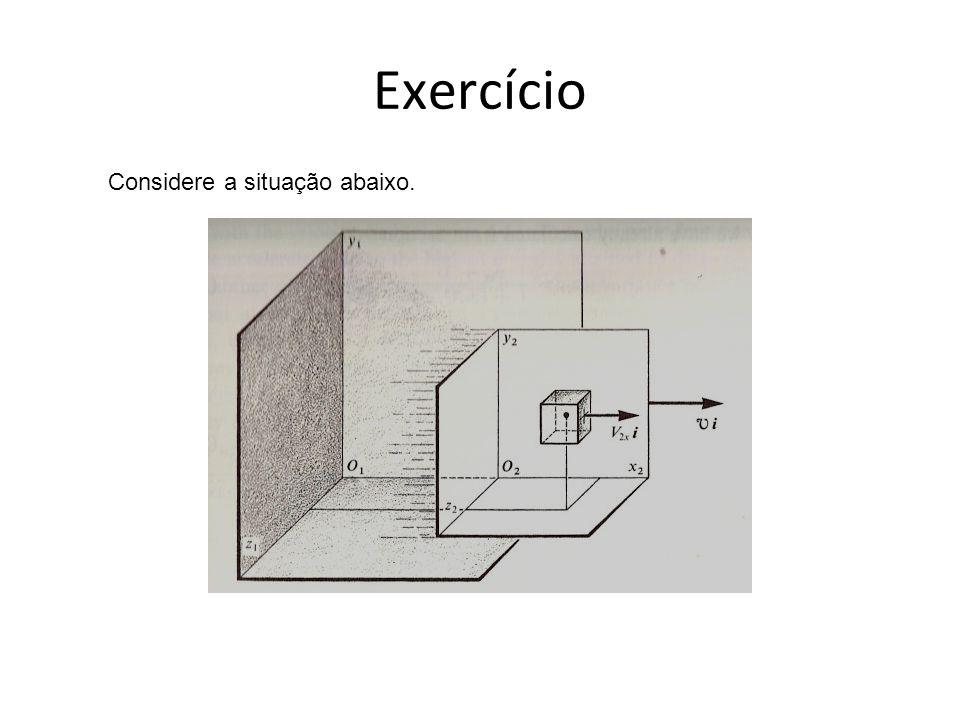 Exercício Considere a situação abaixo.