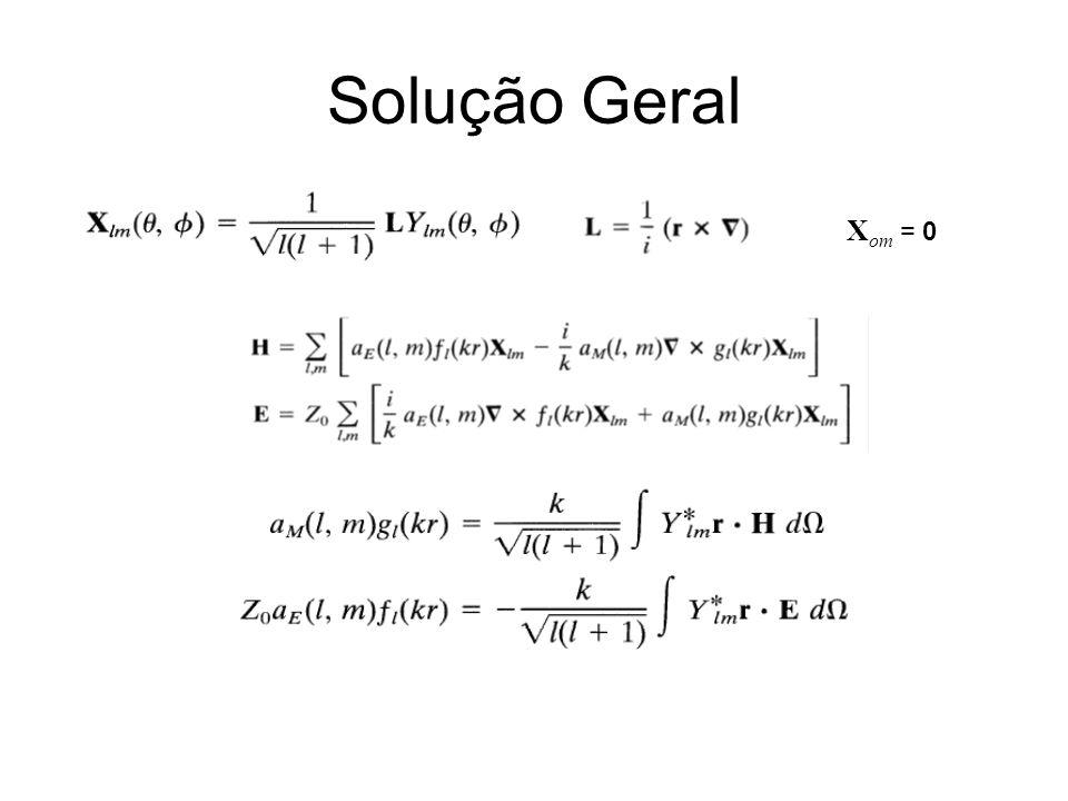 Solução Geral X om = 0