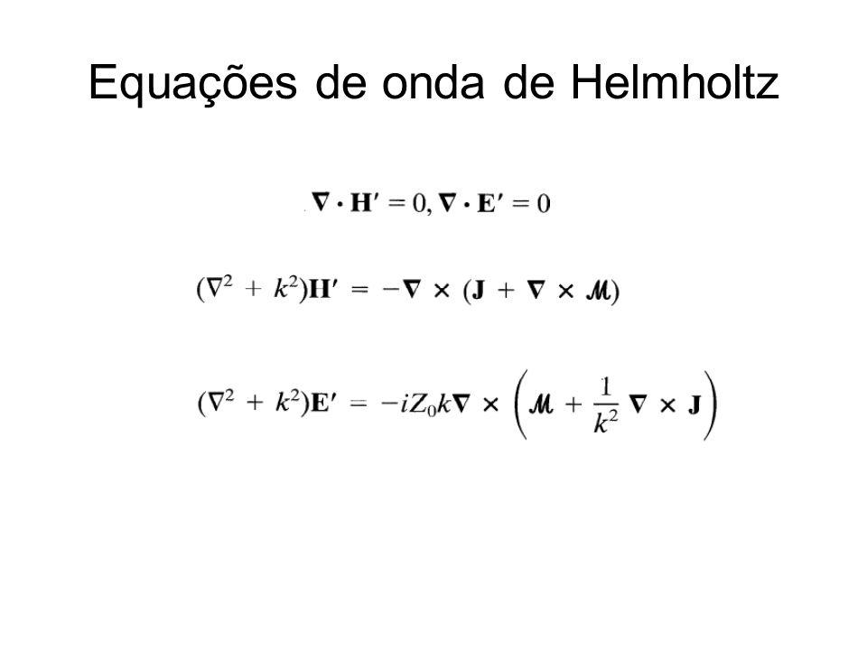 Equações de onda de Helmholtz
