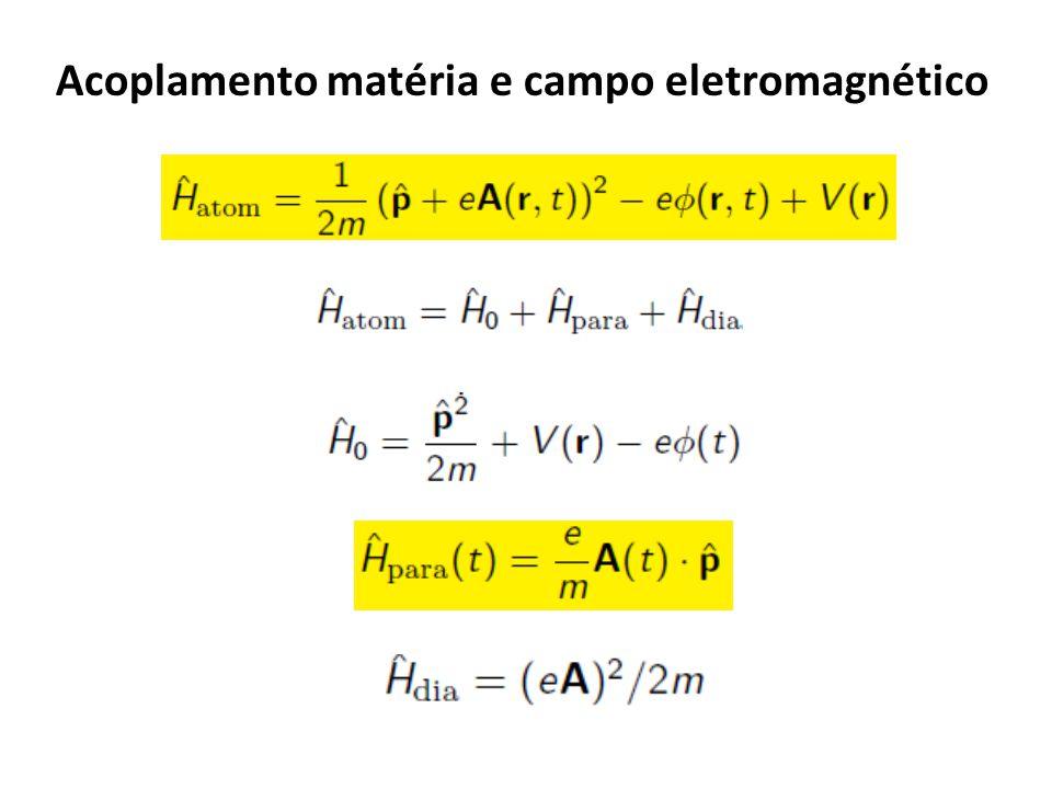 Acoplamento matéria e campo eletromagnético