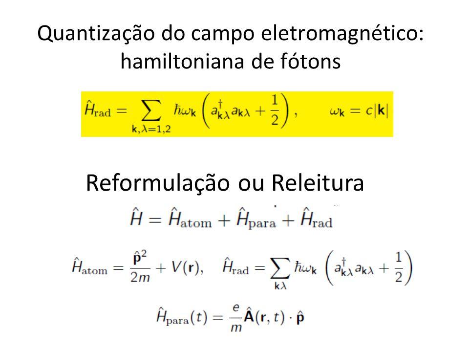 Quantização do campo eletromagnético: hamiltoniana de fótons Reformulação ou Releitura