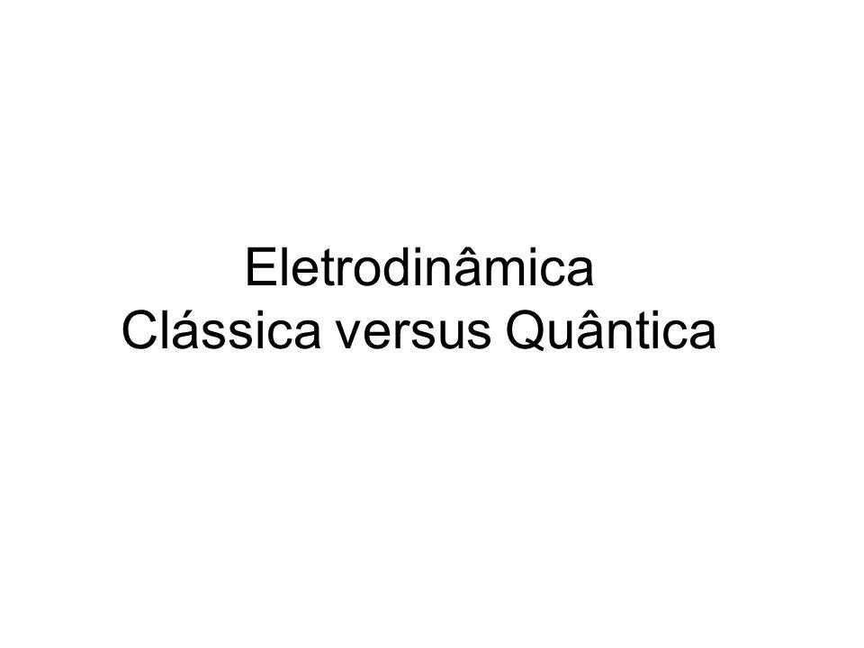 Eletrodinâmica Clássica versus Quântica