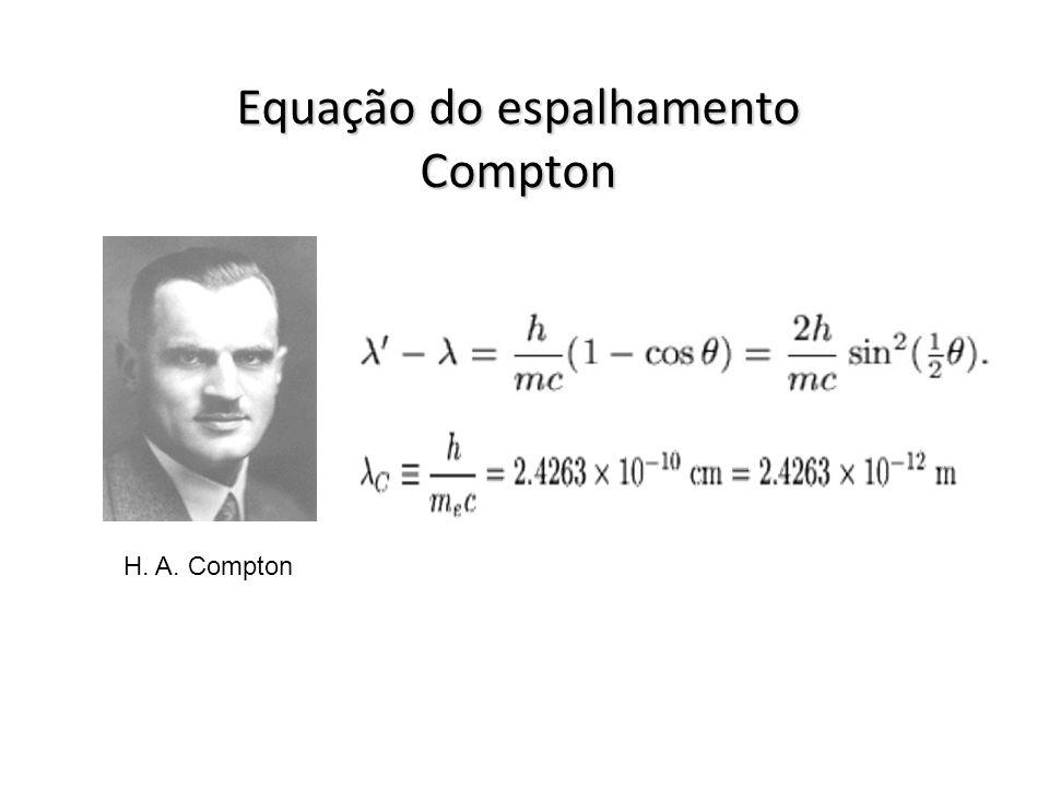 Equação do espalhamento Compton H. A. Compton