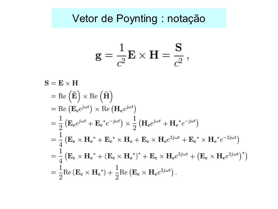 Vetor de Poynting : notação