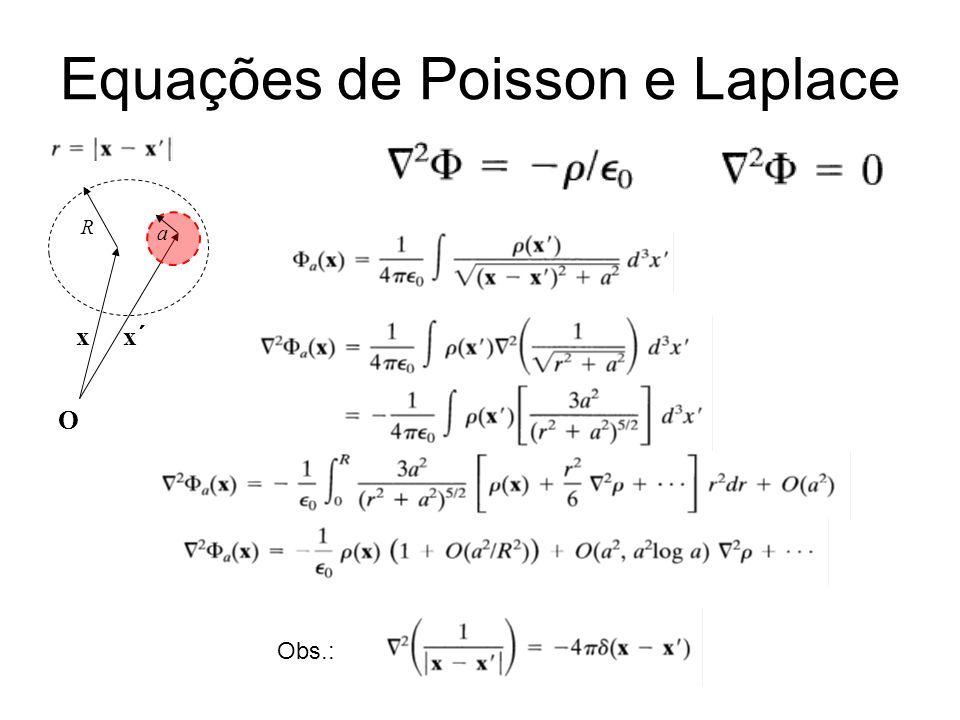 Equações de Poisson e Laplace Obs.: xx´ O R a