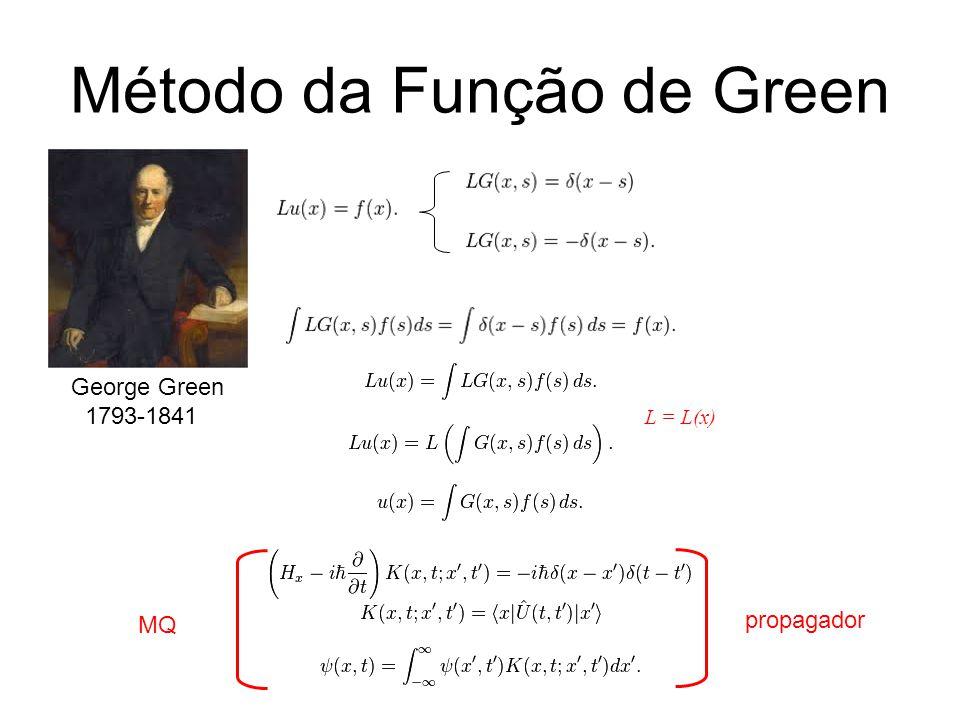 Método da Função de Green propagador George Green 1793-1841 MQMQ L = L(x)