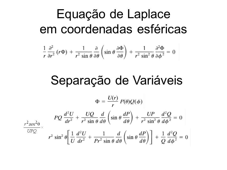 Equação de Laplace em coordenadas esféricas Separação de Variáveis