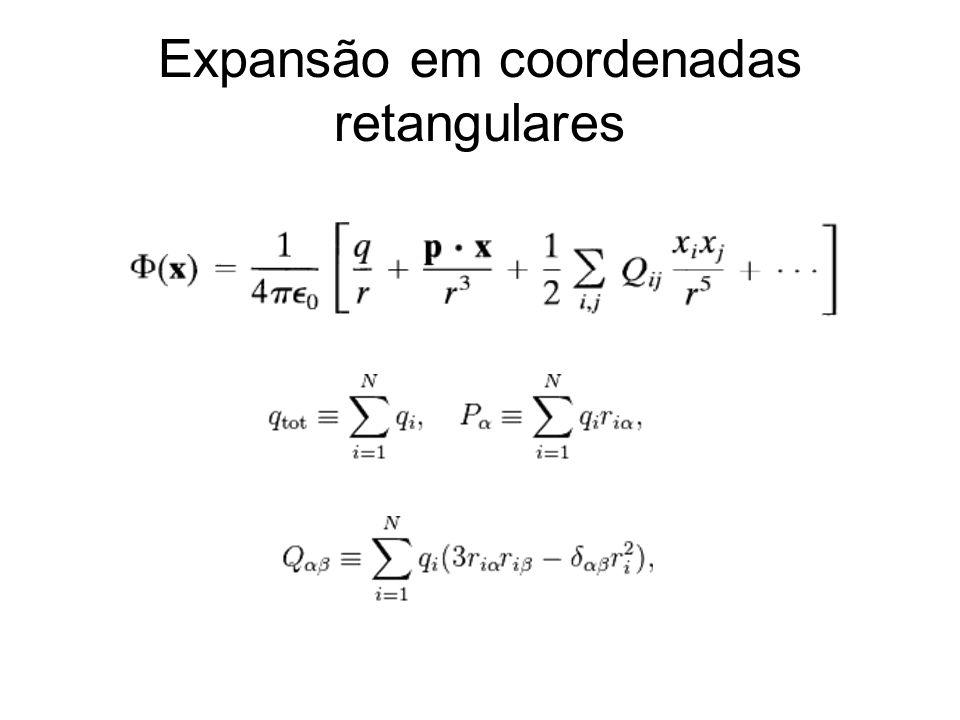 Expansão em coordenadas retangulares