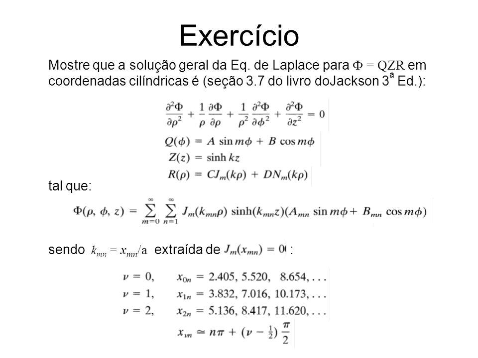 Exercício Mostre que a solução geral da Eq.