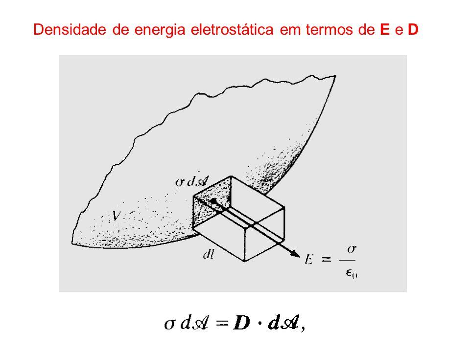 Densidade de energia eletrostática em termos de E e D