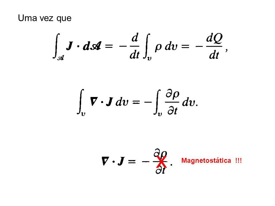 Uma vez que x Magnetostática !!!