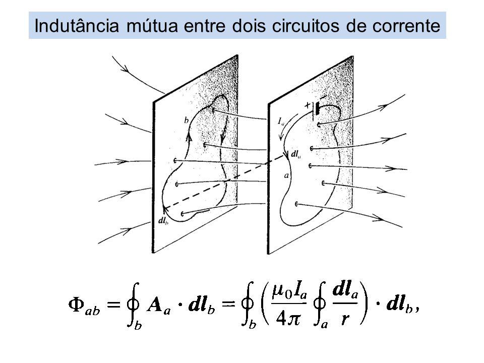 Indutância mútua entre dois circuitos de corrente
