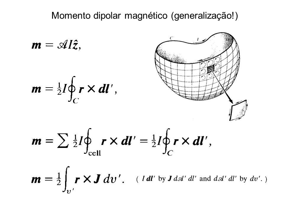 Momento dipolar magnético (generalização!) ( )