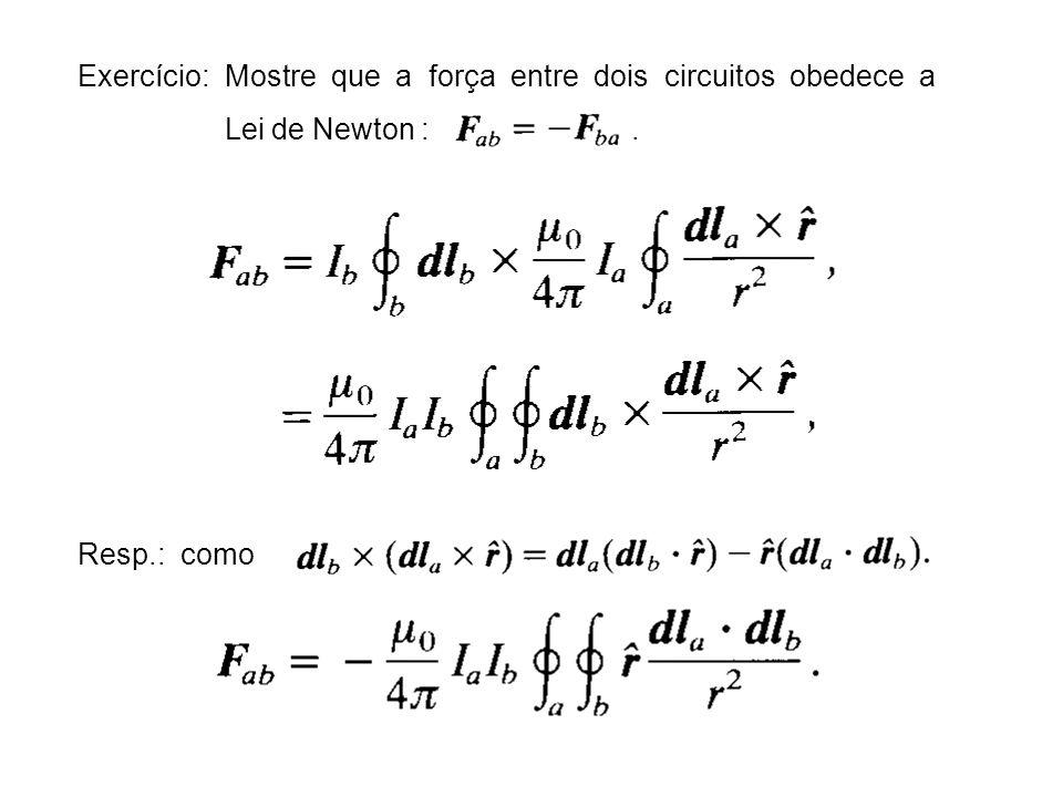 Exercício Obtenha o potencial e campo magnéticos em torno de um orificio circular num plano condutor com um campo magnético externo assintoticamente tangencial e uniforme em um dos lados (seção 5.13 do livro do Jackson 3 a Ed.)