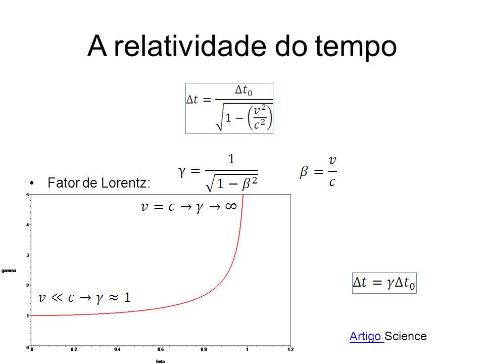 A relatividade do tempo Fator de Lorentz: Artigo Artigo Science