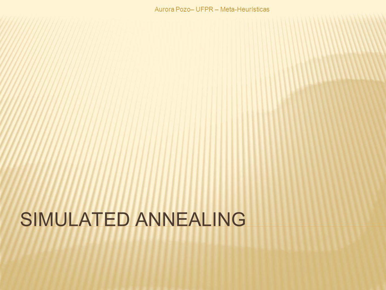 SIMULATED ANNEALING Aurora Pozo– UFPR – Meta-Heurísticas