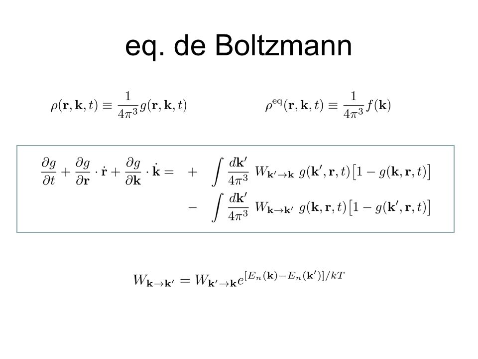 eq. de Boltzmann