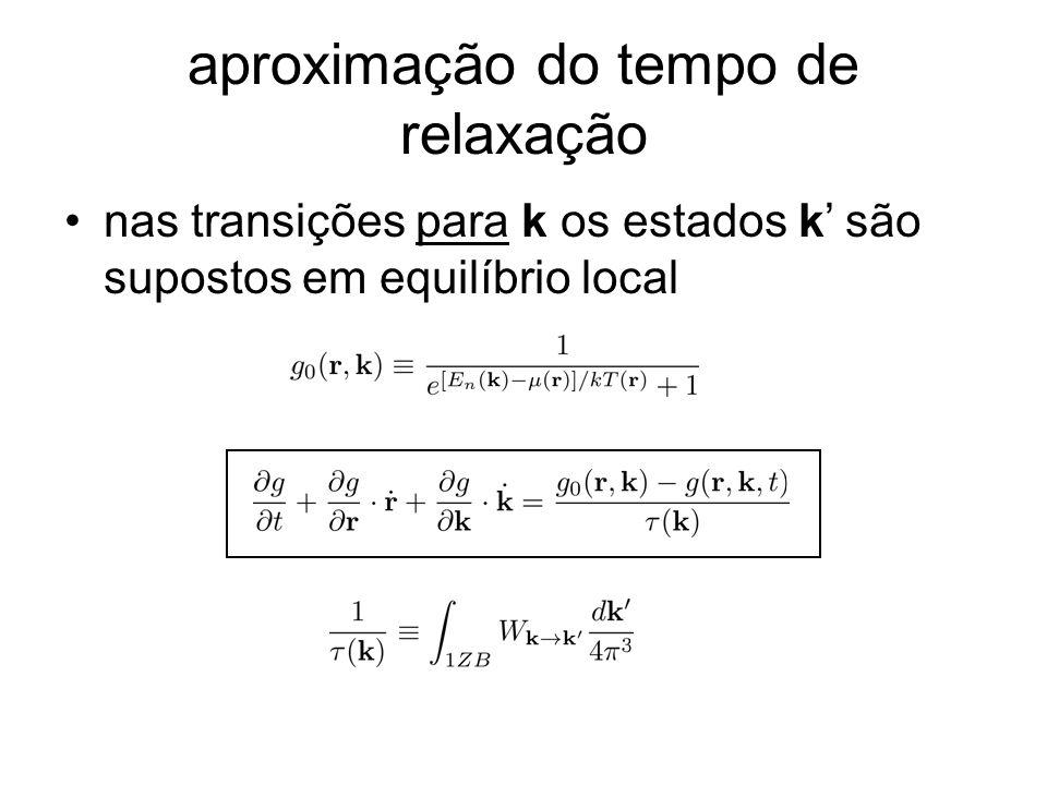 aproximação do tempo de relaxação nas transições para k os estados k são supostos em equilíbrio local