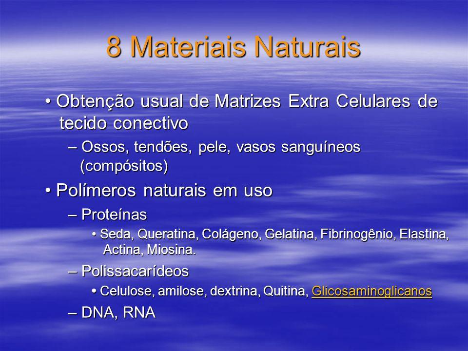 8 Materiais Naturais Obtenção usual de Matrizes Extra Celulares de tecido conectivo Obtenção usual de Matrizes Extra Celulares de tecido conectivo – O