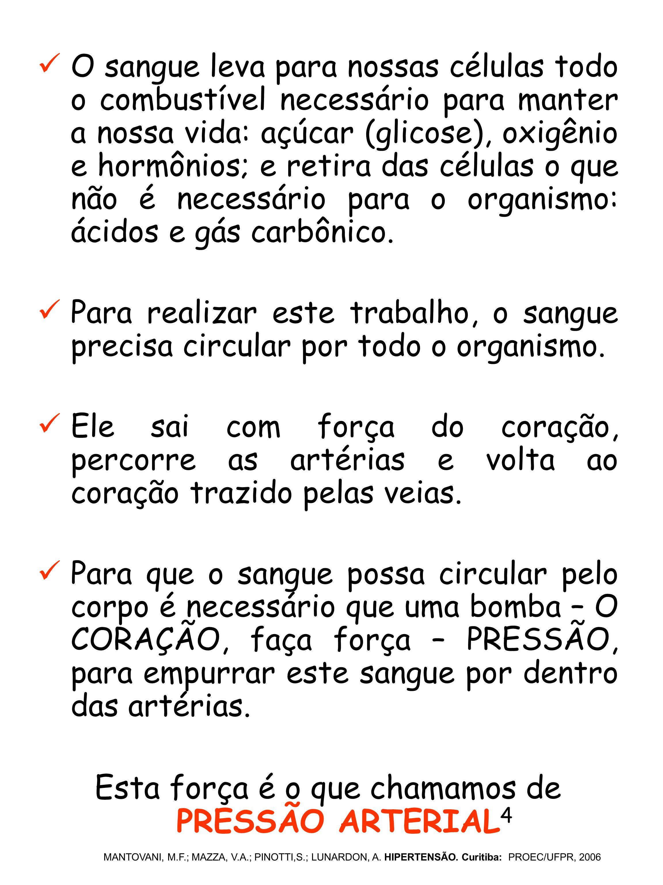 O QUE É A HIPERTENSÃO ARTERIAL.MANTOVANI, M.F.; MAZZA, V.A.; PINOTTI,S.; LUNARDON, A.