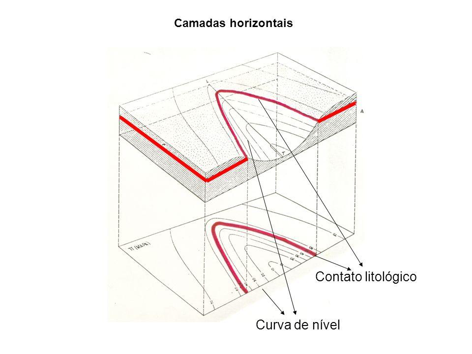Contato litológico Curva de nível