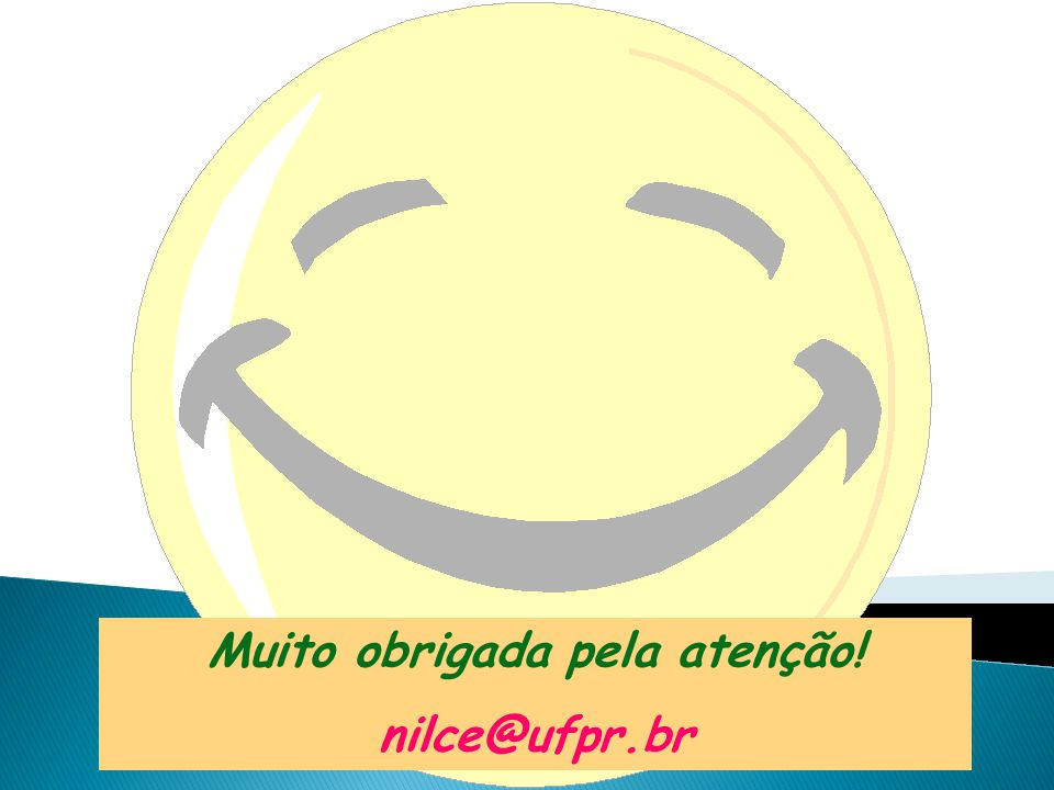 Muito obrigada pela atenção! nilce@ufpr.br