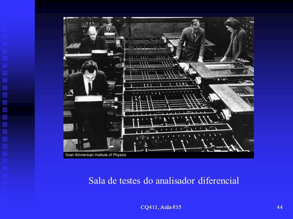 CQ411, Aula #3544 Sala de testes do analisador diferencial