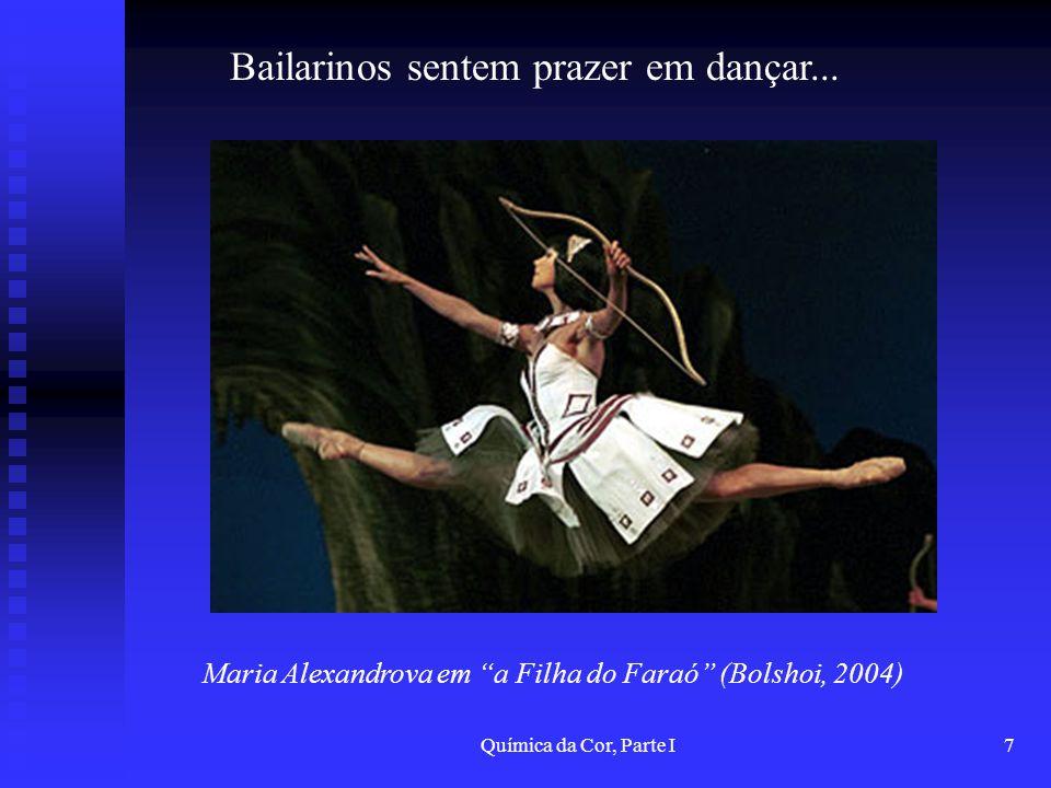 Química da Cor, Parte I7 Bailarinos sentem prazer em dançar... Maria Alexandrova em a Filha do Faraó (Bolshoi, 2004)