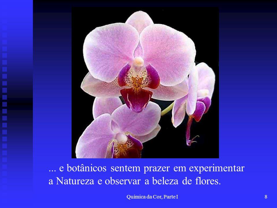 Química da Cor, Parte I8... e botânicos sentem prazer em experimentar a Natureza e observar a beleza de flores.