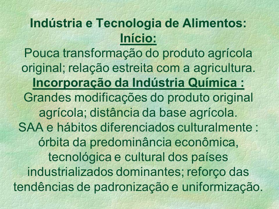 SAA : Padrão Tecnológico Moderno(PTM) de produção de Alimentos 1o. Revolução Agrícola: foco no aumento da escala de produção. 2o. Revolução Agrícola(m