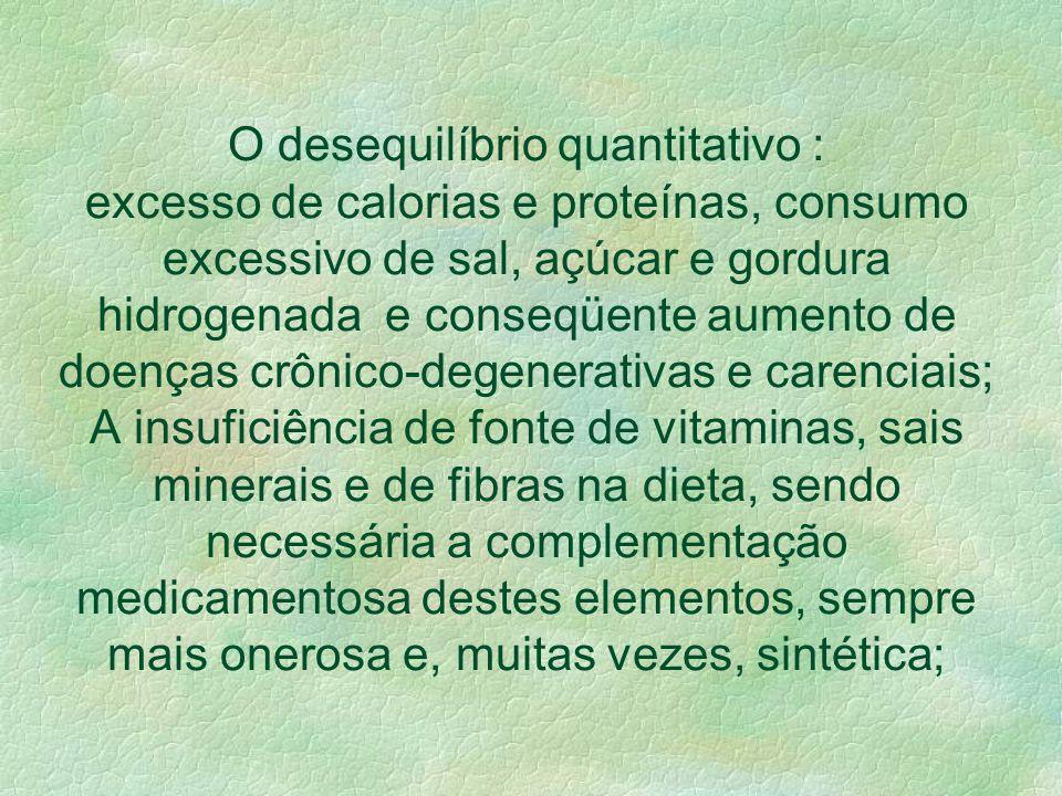 O enfoque central de aspectos quantitativos e de conteúdo de calorias na dieta. A qualidade da alimentação calculado por um índice térmico. Considerar