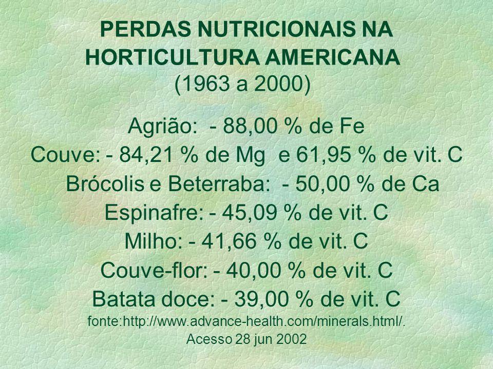 Solo a base de N,P,K = produção de plantas com baixo teor de micronutrientes. De forma geral, espera-se que os alimentos orgânicos apresentem maior va