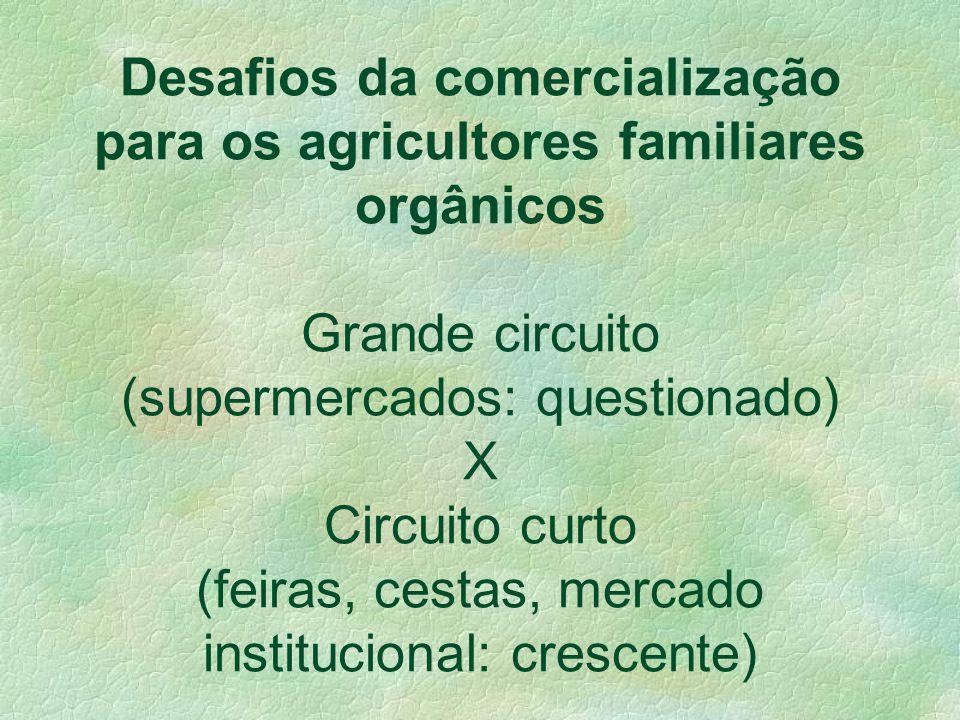 COMERCIALIZAÇÃO DOS ORGÂNICOS