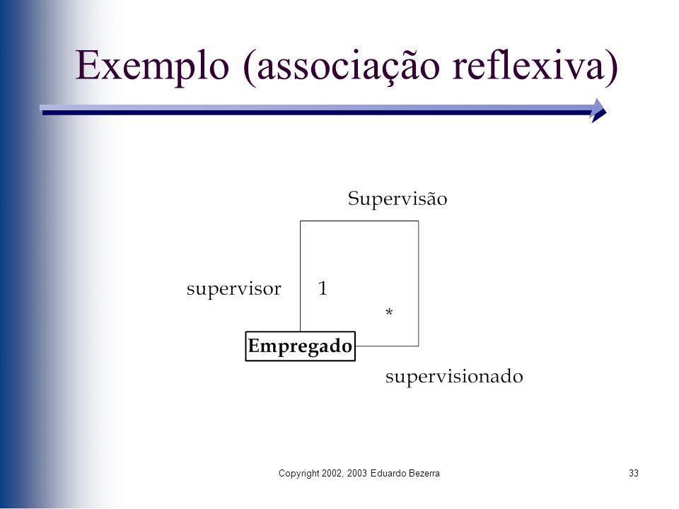 Copyright 2002, 2003 Eduardo Bezerra33 Exemplo (associação reflexiva)