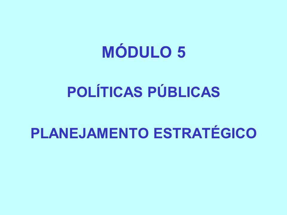 MÓDULO 5 POLÍTICAS PÚBLICAS PLANEJAMENTO ESTRATÉGICO