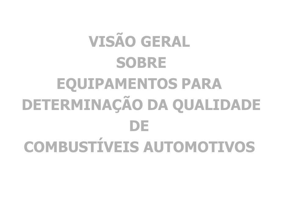 VISÃO GERAL SOBRE EQUIPAMENTOS PARA DETERMINAÇÃO DA QUALIDADE DE COMBUSTÍVEIS AUTOMOTIVOS